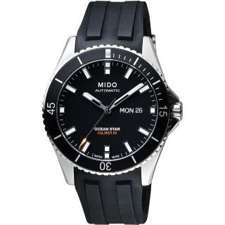 【MIDO】Ocean Star 水鬼 200m潛水機械腕錶-黑/41mm(M0264301705100)