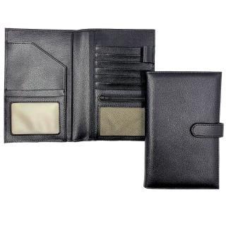 【BOSVISION 博士威】防RFID/NFC側錄真皮護照包