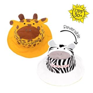 【Flapjack kids】雙面防曬漁夫帽(長頸鹿/斑馬)