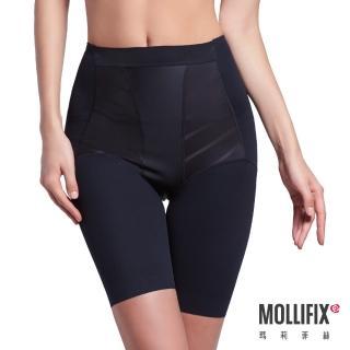 【Mollifix瑪莉菲絲】超自我 蜜腿Shape五分塑身褲(3D秒塑系-黑)