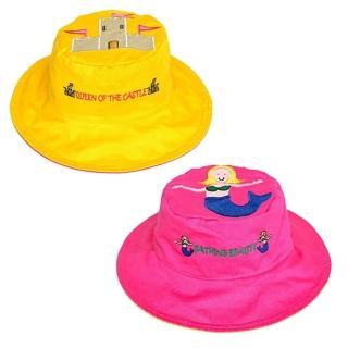 【Flapjack kids】雙面防曬漁夫帽(美人魚/城堡)