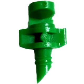 【灑水達人】微霧180度噴頭加四分外牙延伸2分PE管50公分5支(綠)