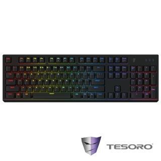 【TESORO鐵修羅】剋龍劍Gram RGB機械式鍵盤-紅軸中文黑
