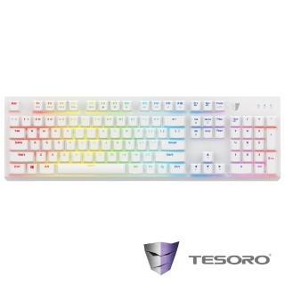 【TESORO鐵修羅】剋龍劍Gram RGB機械式鍵盤-青軸中文白