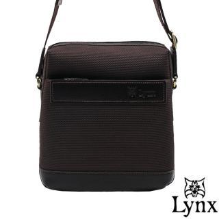 【Lynx】山貓經典極簡風格直式真皮斜側背包(小款)