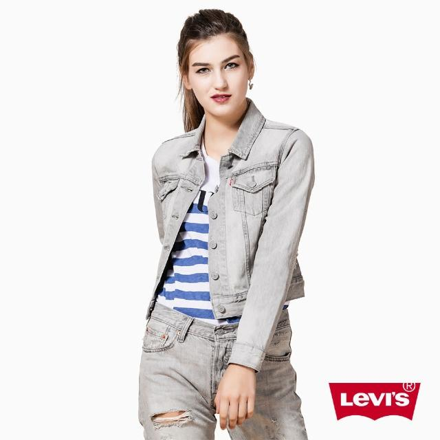 【Levis】女款經典短版牛仔夾克外套 / 破壞 / 白灰比較推薦