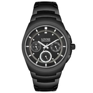 【LOVME】潮流魅力時尚手錶-IP黑/43mm(VS0365M-33-321)
