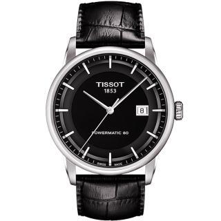 ~TISSOT~天梭 LUXURY 動力儲存80機械腕錶~黑 41mm T08640716