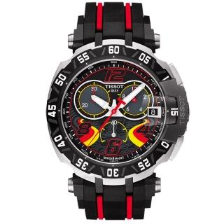 【TISSOT】天梭 T-RACE STEFAN BRADL 限量計時腕錶-45mm(T0924172705702)