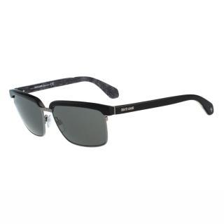 【Roberto Cavalli】-眉框復古太陽眼鏡(黑色)