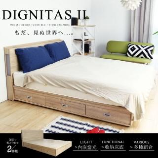 【H&D】肯尼士輕旅風系列5尺房間組2件式(床頭+抽屜床底)