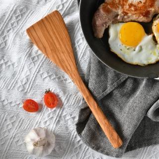 【丹麥 Scanwood】Scanwood 橄欖寬木鏟 27cm(寬面鏟 長鍋鏟)