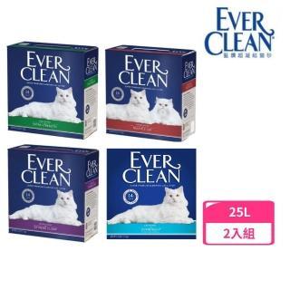 【EverClean 藍鑽】貓砂 25LB(2入組)