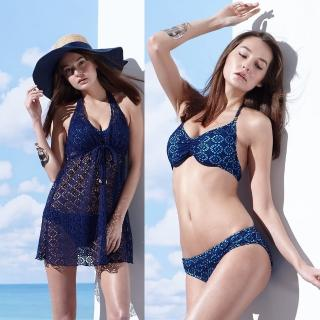 【SARBIS】大女比基尼三件式泳裝(附泳帽B93610)