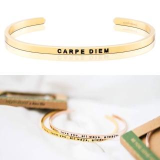 【MANTRABAND】美國悄悄話手環 Carpe Diem 把握當下 金色(悄悄話手環)