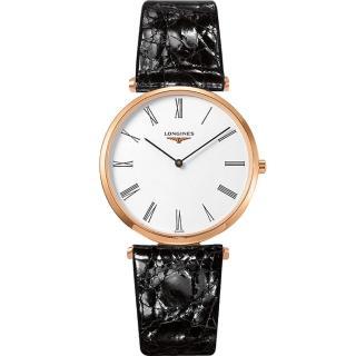 【LONGINES】浪琴 La Grande 嘉嵐系列石英錶-玫塊金框/36mm(L47551912)