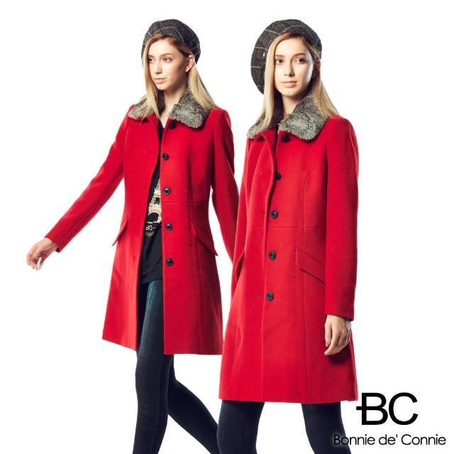 【BC】法國羊毛大衣急凍限量補貨檔(紅黑兩色任選)