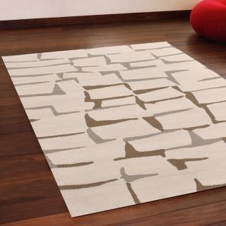 【Ambience】比利時Shiraz 現代地毯--磚牆米色(160x230cm)
