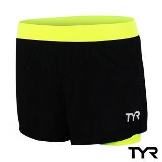 【美國TYR】女款透氣排汗短褲 Ladies Running Short Lime(台灣總代理)