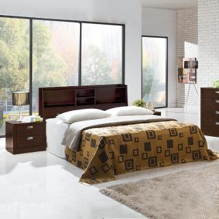 【樂和居】亞特蘭5尺雙人三件組三色可選(床頭.床板.床墊.三件組)