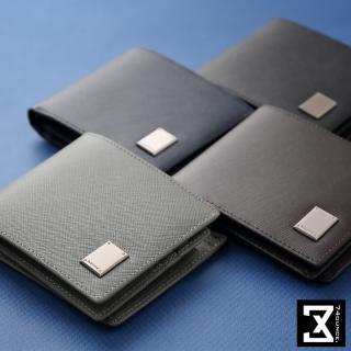【74盎司】Cross 十字紋真皮長夾零錢袋(N-554)