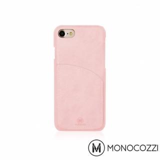 【MONOCOZZI】EXQUISITE iPhone 7/8 口袋皮套(嫩粉紅)