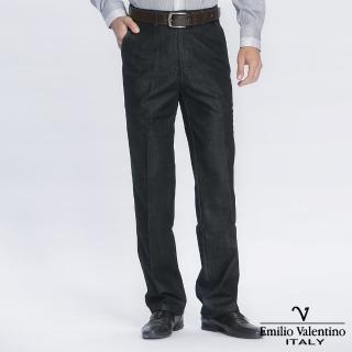 【Emilio Valentino 范倫提諾】經典仿牛仔休閒褲(黑)