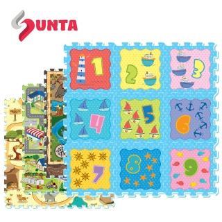 【SUNTA拼接樂扣墊】EVA拼接遊戲墊2入組$799(共18片)32*32*1cm地墊/爬行墊(10款可選)