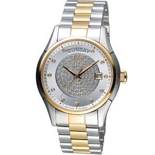 Ogival 瑞士愛其華 豪氣鑽石自動機械腕錶 3357-6AJMSR