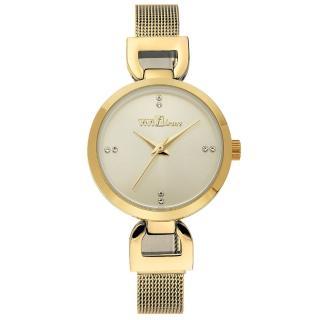 【ViVi Fleurs】微感極簡素雅晶鑽時尚腕錶(金/29mm)