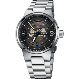 【ORIS】豪利時 Williams鏤空日期機械腕表-灰/42mm(0173377164164-0782450)