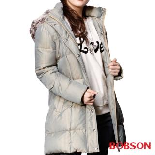 【BOBSON】女款尊爵長版羽絨衣(33120-83)