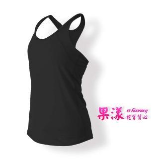 【HODARLA】女果漾背心-無袖上衣 慢跑 路跑 瑜珈 運動 休閒 黑(3123601)