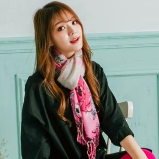 【Wonderland】購物天堂100%純羊毛披肩(粉)