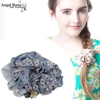 【Angel Rena】繁星愛心星星珍珠墜飾髮束(粉藍)