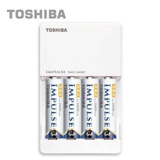 【日本製TOSHIBA】IMPULSE高容量低自放電充電組(2450mAh 3號4入+充電器)