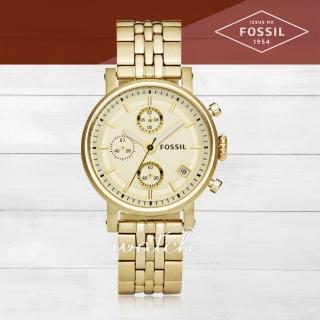 【FOSSIL】時尚首選_不鏽鋼錶帶_日期顯示_指針女錶(ES2197)