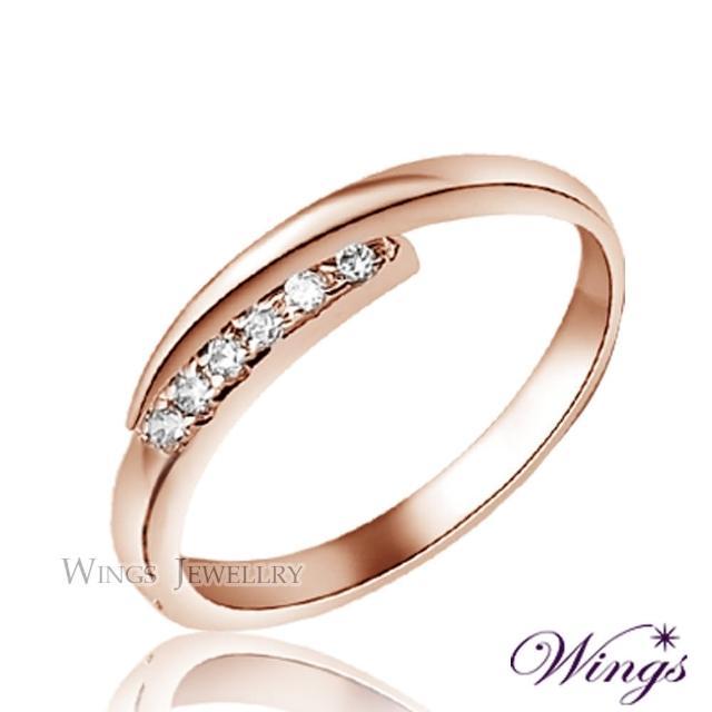【WINGS】星盼 纖細美麗的優雅 精鍍玫瑰金戒指 尾戒(可做尾戒 對戒)