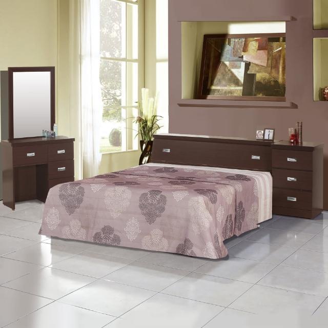【樂和居】雅典五件式3.5尺單人房間組2色可選(床頭+床底+床墊+鏡台+床頭櫃)