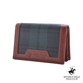 【B.H. POLO】比華利保羅透明窗夾層名片夾(綠格 / BH-2074)
