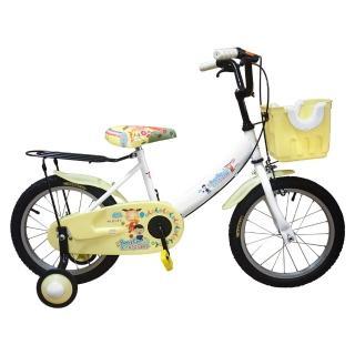 【Adagio】16吋大頭妹打氣胎童車附置物籃-白米(台灣製造)