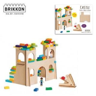 【BabyTiger虎兒寶】荷蘭 BRIKKON(益智遊戲板 多多的城堡)