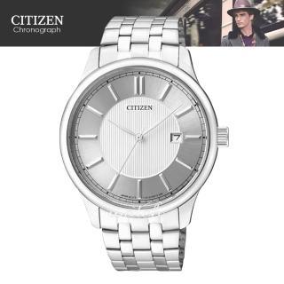 【CITIZEN 日系星辰】時尚精選_不鏽鋼錶帶_日期顯示_礦物玻璃_指針男錶(BI1050-56A)