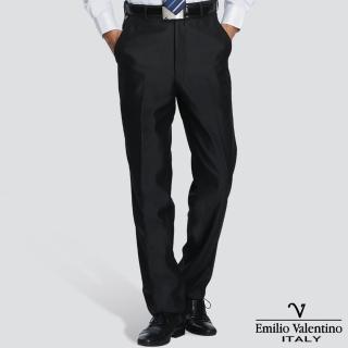 【Emilio Valentino 范倫提諾】超柔平面西褲(黑)