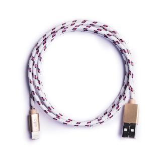 【alto】Braided Lightning 編織花紋 Cable - 白/ 香檳金(alto  棉紗編織設計)
