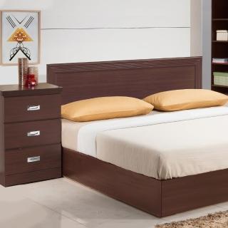 【樂和居】畢斯特三件式5尺雙人房間組2色可選(床片+床底+床頭櫃)