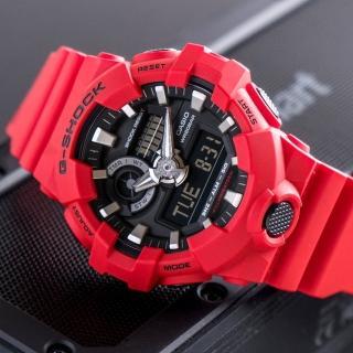 【G-SHOCK】強悍粗曠時尚潮流錶-紅(GA-700-4ADR)