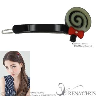 【Rena Chris】棒棒糖橫竿髮夾(Black)