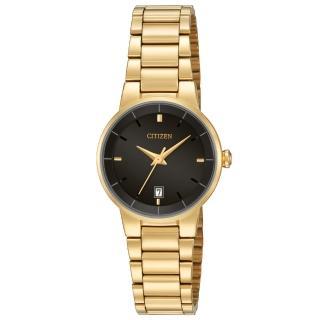 【CITIZEN 日系星辰】時尚大方_日期顯示_不鏽鋼錶帶_礦物玻璃_指針女錶(EU6012-58E)