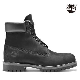 【Timberland】男款黑色素面防水中筒靴